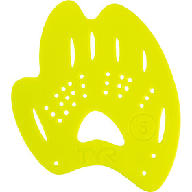 TYR Mentor 2 Hand Paddles L, flou yellow
